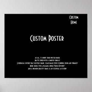 Custom Home Poster