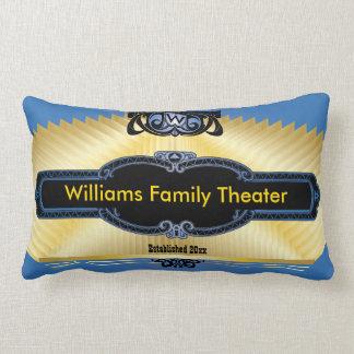 Custom Home Theater Add Your Monogram Lumbar Pillow