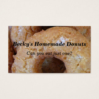 Custom Homemade Donuts Doughnuts Business Card