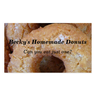 Custom Homemade Donuts Doughnuts Pack Of Standard Business Cards