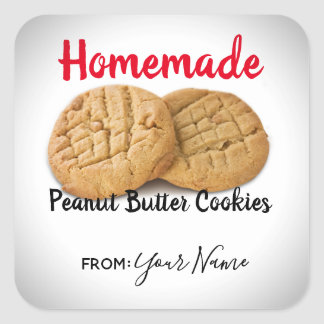 Custom Homemade Peanut Butter Cookies Stickers