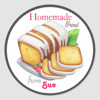 Custom Homemade Quick Bread Stickers