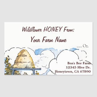Custom Honey Farm Vintage Beehive Sticker