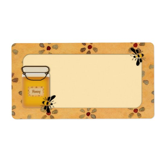 Custom Honey Label Shipping Label