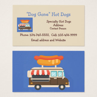Custom Hot Dog Stand or Food Cart Business Card