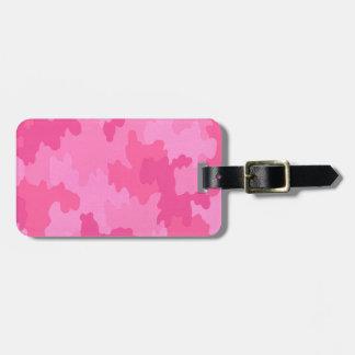 Custom Hot Pink Camouflage Luggage Tag