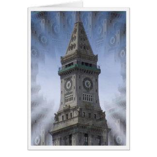 Custom House Clock Tower Card