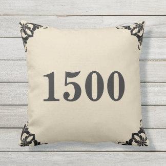 Custom House Number Throw Pillow