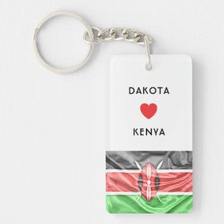 Custom I Heart Flag of Kenya Keychain