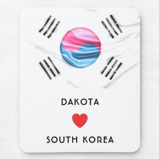 Custom I Heart Flag of South Korea Mouse Pad