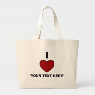 Custom I Heart Tote Bag