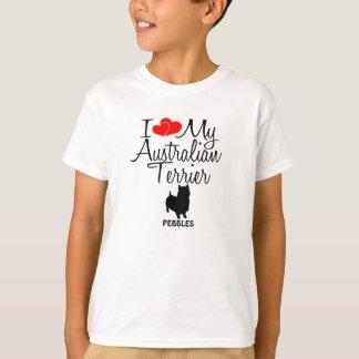 Custom I Love My Australian Terrier T-Shirt