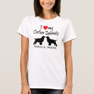 Custom I Love My Cocker Spaniels T-Shirt