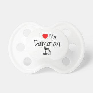 Custom I Love My Dalmatian Pacifier