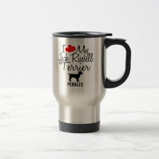 Custom I Love My Jack Russell Terrier Mug