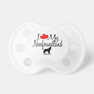 Custom I Love My Newfoundland Pacifier
