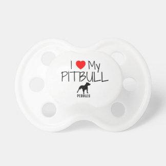 Custom I Love My Pitbull Pacifier