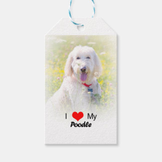 Custom I Love My Poodle Gift Tag Pack Of Gift Tags