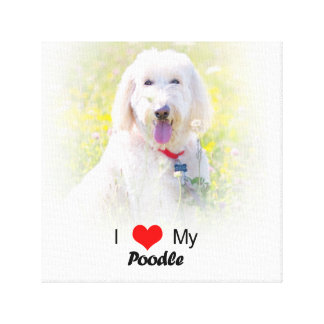 Custom I Love My Poodle wrapped canvas Canvas Prints