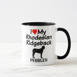 Custom I Love My Rhodesian Ridgeback Dog Mug