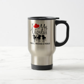 Custom I Love My Three Vizslas Mug