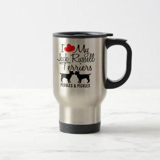Custom I Love My Two Jack Russell Terriers Mug