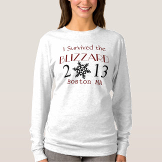 Custom I Survived BLIZZARD 2013 Shirt