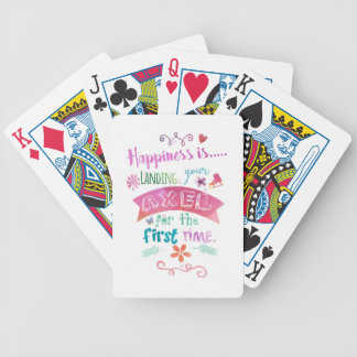 Custom Ice Figure Skating Giftware Happiness Skate Bicycle Playing Cards