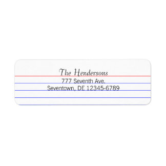 Custom Index Card Return Address Label