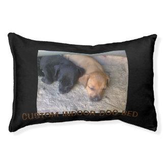 Custom indoor dog bed