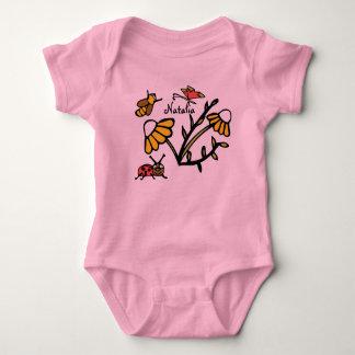 Custom Infant Creeper with Ladybug and Daisy