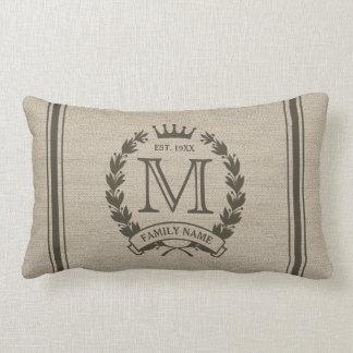 Custom Initial Monogrammed Family Logo Pillow