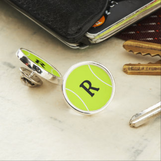 Custom Initial or Text Tennis Ball Lapel Pin