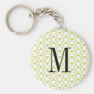 Custom Initial Sage Pinwheels Basic Round Button Keychain