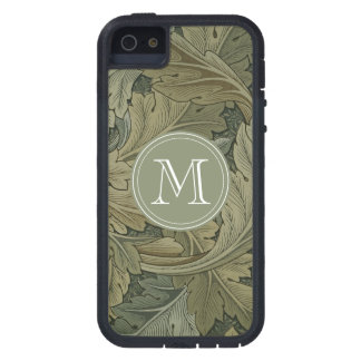 Custom Initial William Morris Acanthus Camo Colors iPhone 5 Case