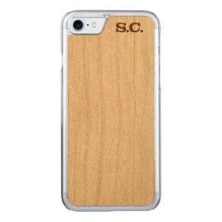 Custom Initialized iPhone Wood Case