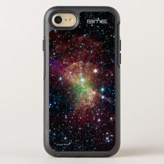 Custom initials dumbbell nebula astronomy OtterBox symmetry iPhone 8/7 case