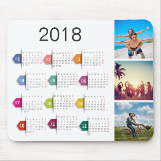 Custom Instagram Photo Collage 2018 Calendar Mouse Pad