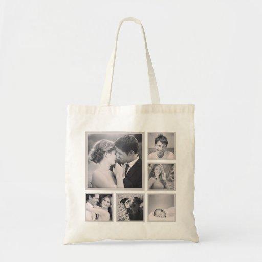 Custom Instagram Photo Collage Canvas Bag