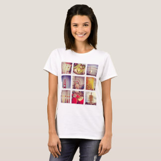 Custom Instagram Photo Collage Basic T-Shirt