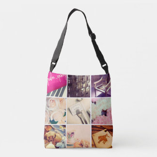 Custom Instagram Photo Collage Cross Body Bag