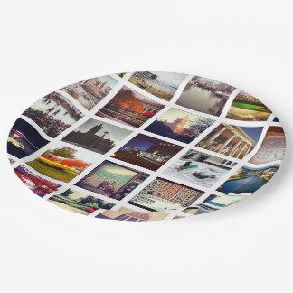 Custom Instagram Photo Collage Paper Plate