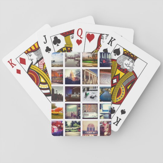 Custom Instagram Photo Collage Poker Playing Cards