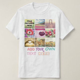 Custom instagram photo collage T-Shirt