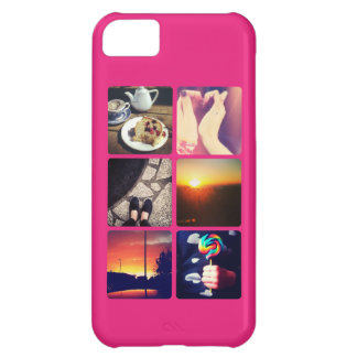 Custom Instagram Photo Hot Pink Cover For iPhone 5C