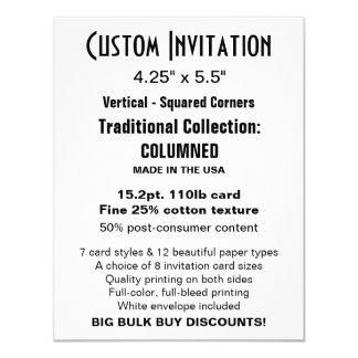 "Custom Invitation 4.25"" x 5.5"" COLUMNED"