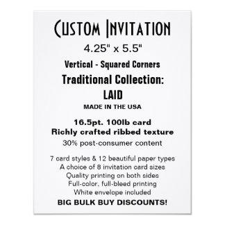 """Custom Invitation 4.25"""" x 5.5"""" LAID"""