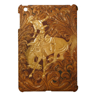 Custom iPad mini cover w/ tooled leather