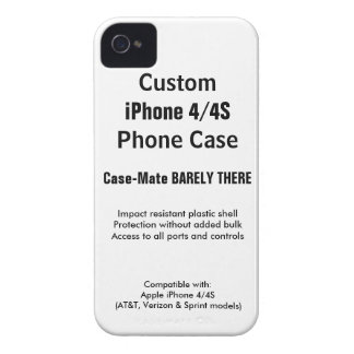 Custom iPhone 4 / 4S Barely There Phone Case