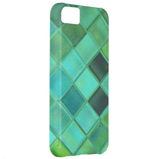 Custom iPhone 5 Case in Soft Seaglass Argyle